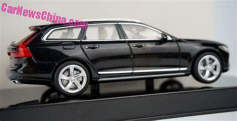 new 2017 volvo v90 wagon revealed as scale model