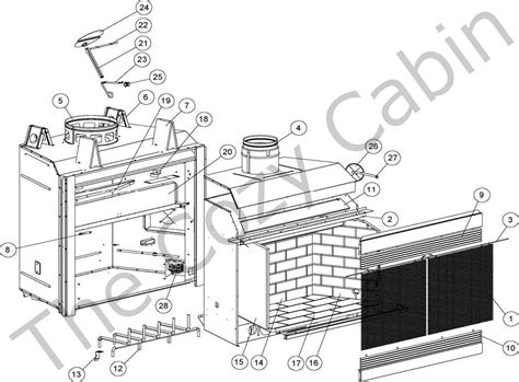 Lennox Fireplace Parts Lennox Fireplace Parts Lsm40mn H2213 Lsm40mp H2214 Lsm40en