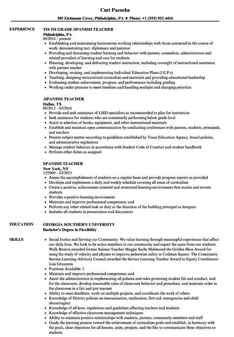 spanish resume template foodcity me