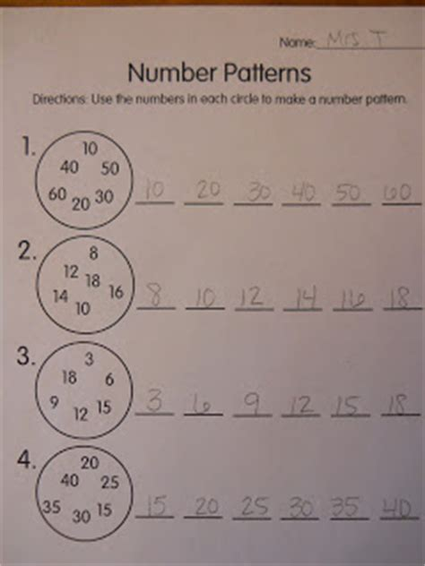 pattern games high school mrs t s first grade class number patterns