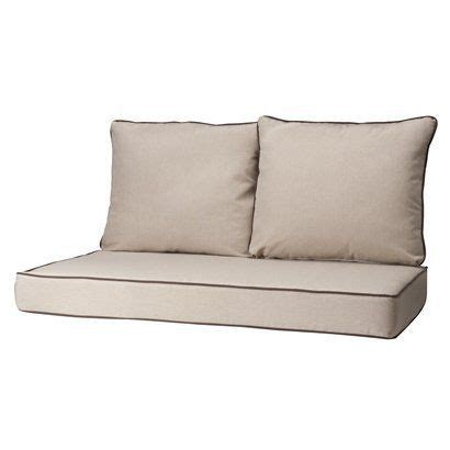 outdoor loveseat cushions rolston 3 piece outdoor replacement loveaseat cushion set