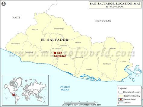 where is el salvador on a world map where is san salvador location of san salvador in el