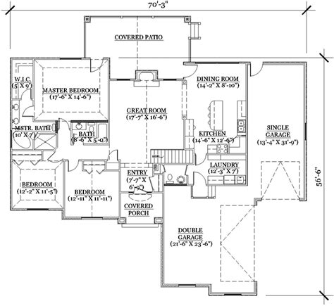 single story house floor plans plan w69022am northwest northwest house plan 3 bedrooms 2 bath 1821 sq ft plan