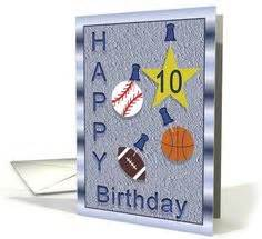 birthday card 10 year boy sport football on soccer cards football