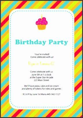 10 happy birthday invitation card template