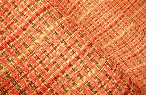 pretty plaid upholstery in coral farmhouse upholstery