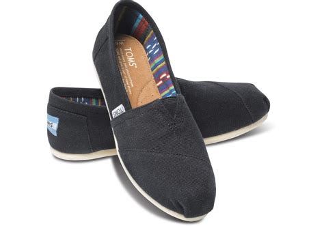 Mf Navy Kanvas Wm Clsc Alprg Toms black canvas s classics toms 174