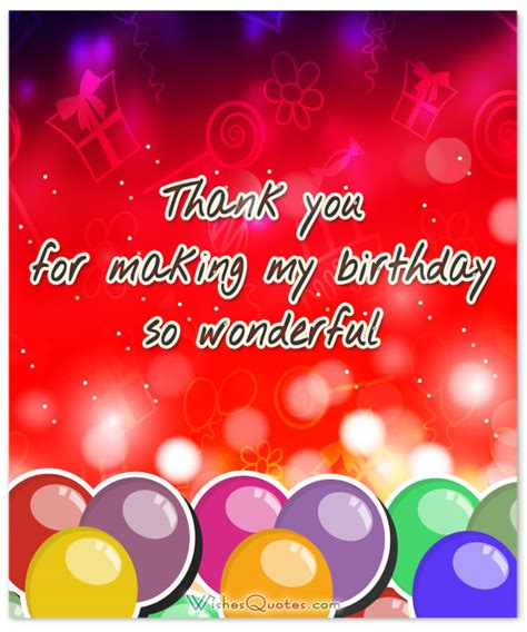Thank You Birthday Quotes Thank You Messages For Coming To My Birthday Party