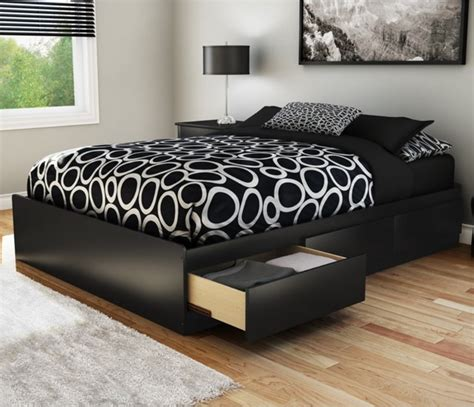 black full bed sandbox full storage platform bed black modern beds