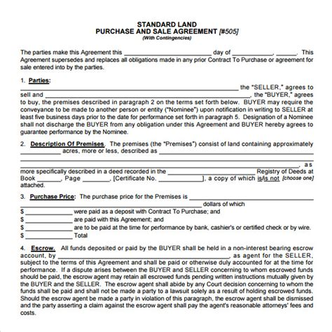 Agreement Letter For Buying Land Real Estate Purchase Agreement 9 Free Sles Exles Format
