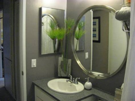 how to hang a framed bathroom mirror rectangular chrome bathroom wall mirror frame with artwork
