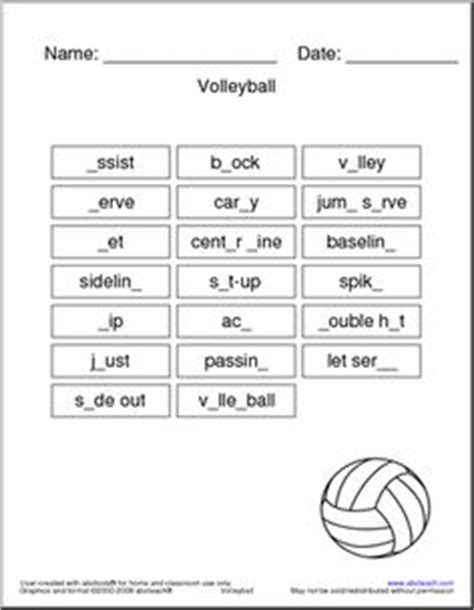 printable volleyball worksheets 1000 images about middle school health and physical