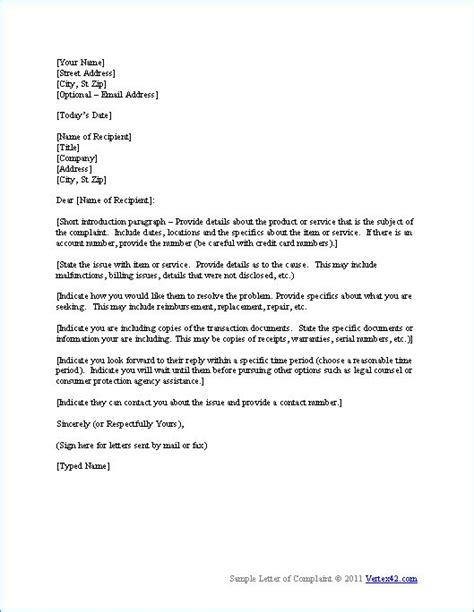 Complaint Letter To Bank Regarding Loan The Complaint Letter Template From Vertex42