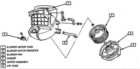 service manual [1994 geo metro blower motor removal