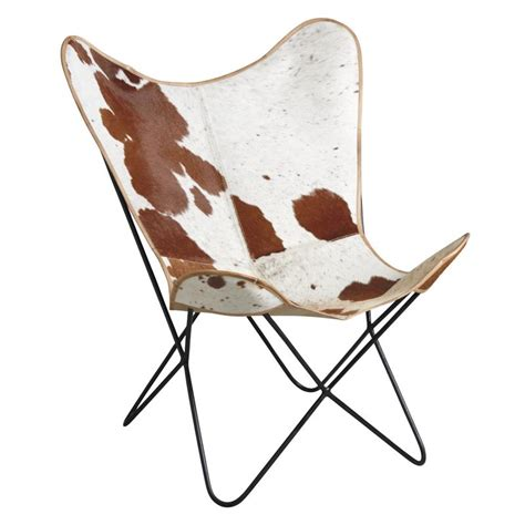 Butterfly Armchair by Brown Cow Skin Butterfly Armchair Mfa2530c Aubry Gaspard