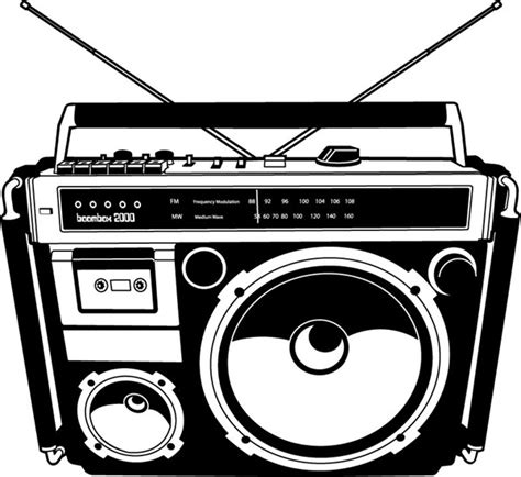vector radio tutorial retro hand drawn tape recorder vector material my free