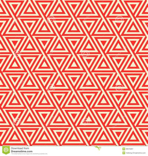 red color pattern design abstract seamless geometric pattern with triangles stock