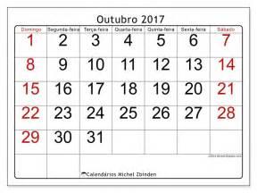 Año Calendario 2017 Livre Calend 225 Rios Para Outubro 2017 Para Imprimir