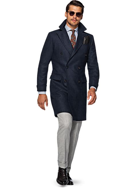 Jaspria Jas Exclusive Blue Navy suitsupply navy trench coat tradingbasis