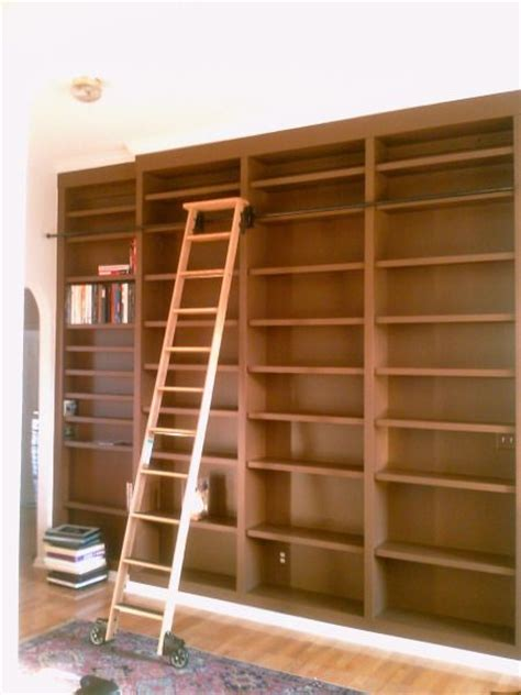 rolling ladder for bookcase large custom bookcase with