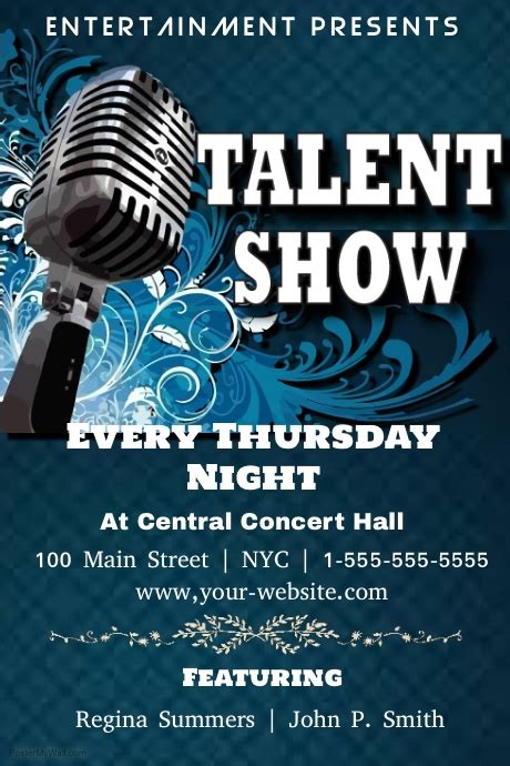 Talent Show Template Postermywall Free Printable Talent Show Flyer Template