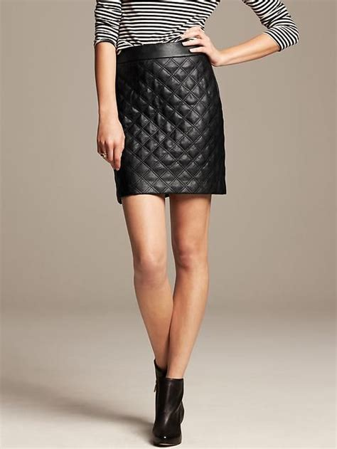 banana republic quilted faux leather mini fashion