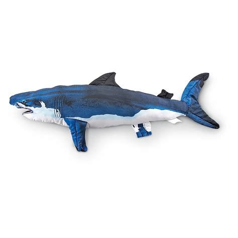 giant shark pillow giant fish pillows 193044 toys at sportsman s guide