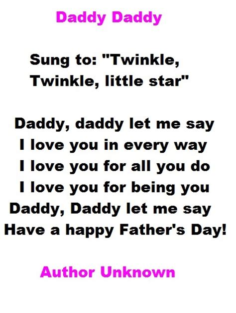 fathers day poems kindergarten fathers day best poems from s day poems