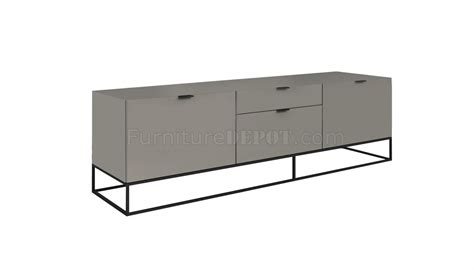 light grey tv stand vizzione tv stand in high gloss light gray by casabianca