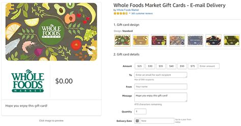 Whole Foods Gift Card Amount - 30 off 60 at amazon for 0 01 in points frequent miler