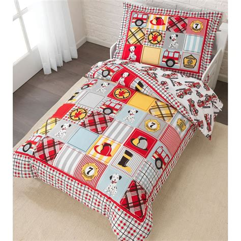 firetruck bedding fire truck toddler bedding