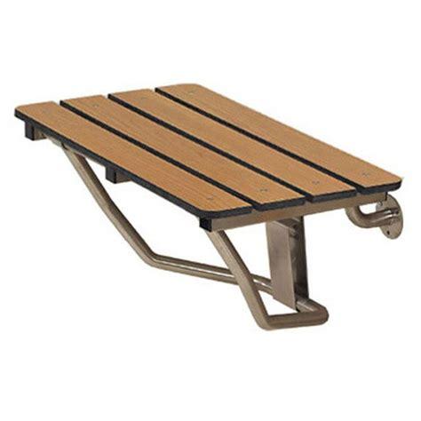folding bench seats freedom shower seat folding wall supported phenolic teak