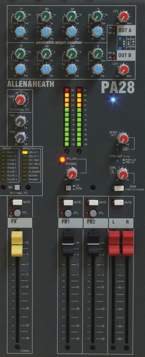 Allen Heath Mixer Live Pa28 allen heath pa28 mixer 24x mono mic line 2x dual stereo