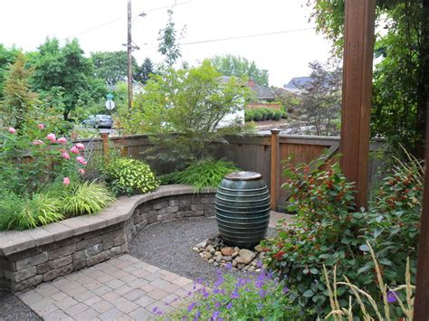 courtyard traditional landscape portland by plan