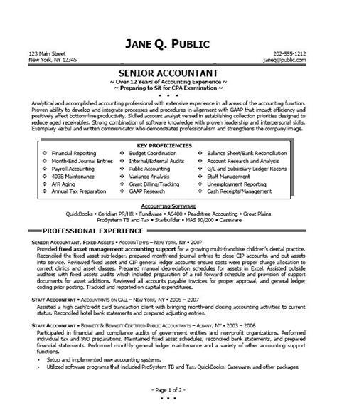 standard resume format for accountant sle accountant resume resume badak