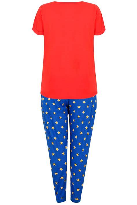 Card 727 Blue blue print pyjama set plus size 16 to 36