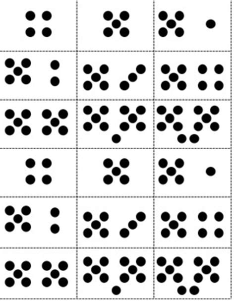 Math Dot Card Templates by Math Dot Cards Common By Murray Teachers Pay