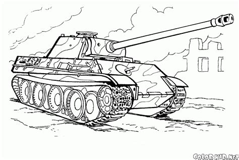 coloring page modern tank of germany