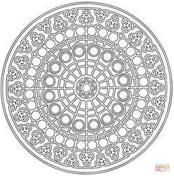 celtic mandala black and white celtic mandala with circle pattern coloring page free