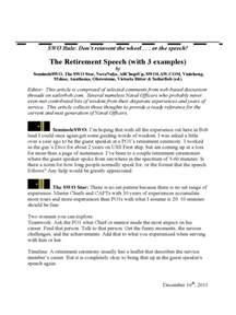 retirement speech template retirement speech exles 3 free templates in pdf word