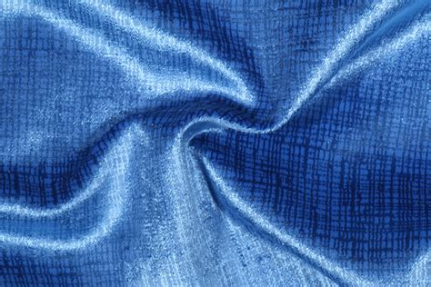 Polyester Upholstery Fabric by Lumiere Polyester Velvet Upholstery Fabric In Azure