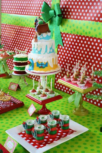 grinch christmas party props and everything sweet grinch themed dessert table