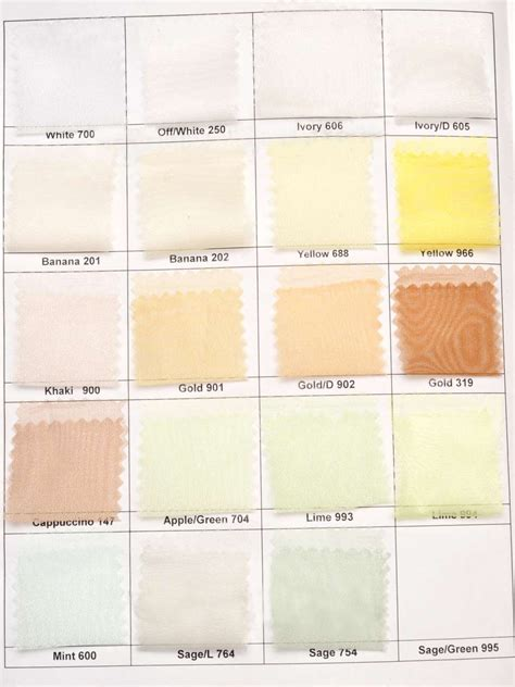 ivory color chart gallery