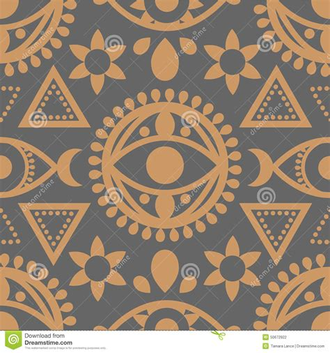 seamless eye pattern seamless evil eye pattern stock vector image of geometric