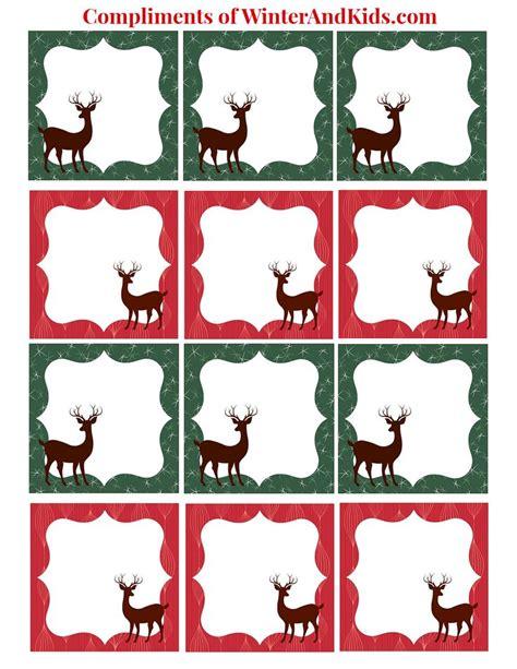 printable reindeer tags 17 best images about cliparat contour et cadre on