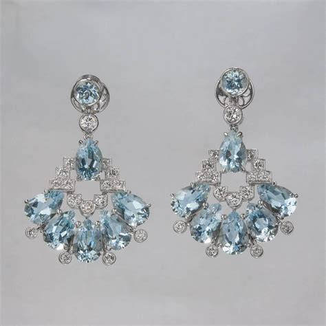 Aquamarine Chandelier Earrings Aquamarine And Chandelier Earrings For Sale At 1stdibs