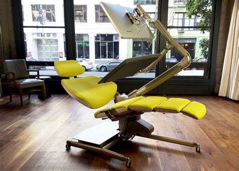 altwork station desk chair lets you sit stand and lie
