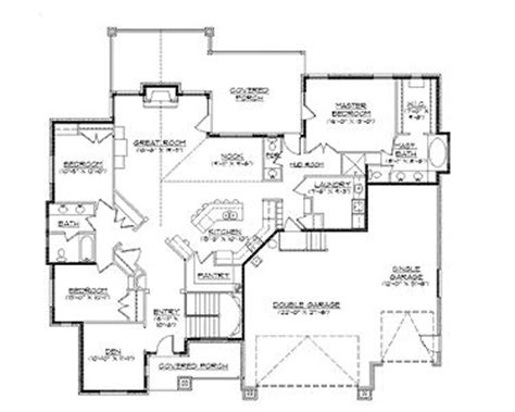 34 5 bedroom home plans with basement ranch home plans home plans homepw75148 2 406 square feet 3 bedroom 2