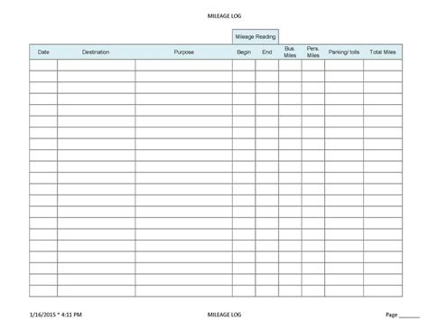 Ifta Mileage Spreadsheet Natural Buff Dog Ifta Trip Sheet Template