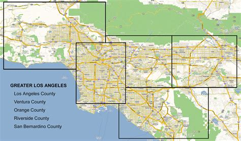 map of los angeles area opinions on greater los angeles area
